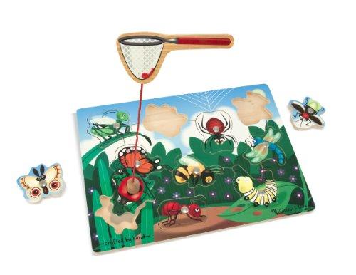 Melissa Doug Magnetic Wooden Bug-Catching Puzzle Game 10 pcs