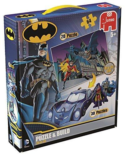 Dc Batman puzzle And Build 2d3d Jigsaw Puzzle 64-piece  by Jumbo