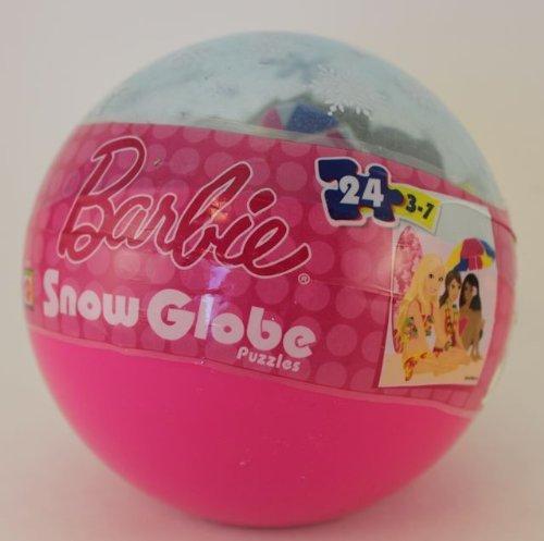 Barbie At the Beach 24 Piece Christmas Snow Globe Puzzle