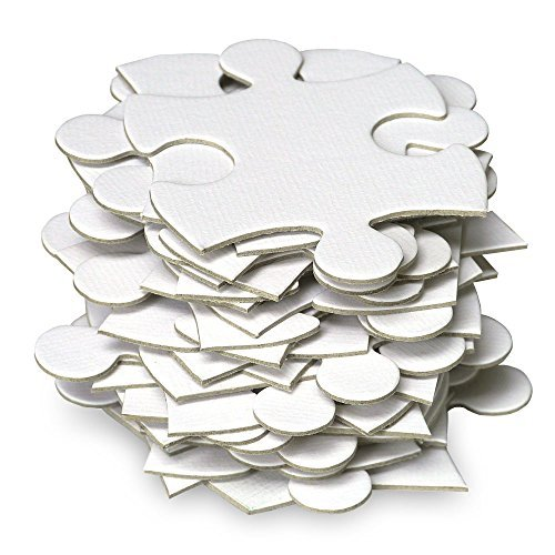 JIGSAW2ORDER Extra Large Blank Puzzle Wedding Guest Book Puzzle 105 Large Numbered Blank Puzzle Pieces Size 18 x 37in