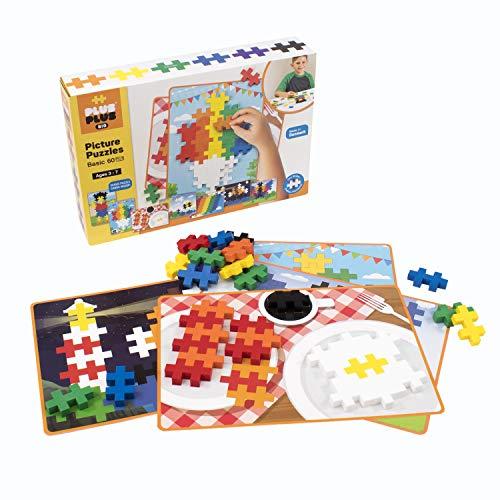 Plus-Plus BIG - BIG Picture Puzzles Basic Color Mix - Construction Building Stem Toy Interlocking Large Puzzle Blocks for Toddlers and Preschool