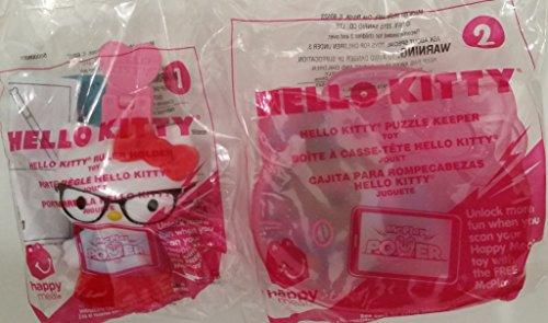 Mcdonalds 2015 Hello Kitty 1 ruler holder 2 puzzle keeper