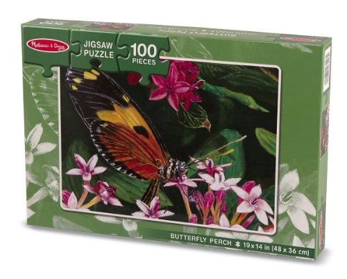 Melissa Doug Butterfly Perch Jigsaw Puzzle 100 Piece
