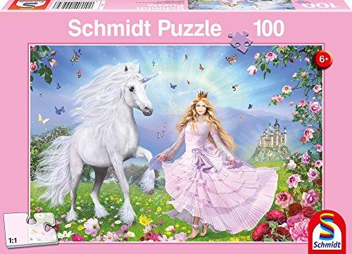 Princess of Unicorns Childrens Jigsaw Puzzle 100-Piece