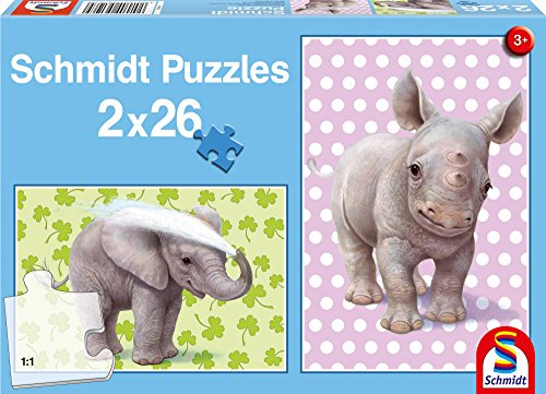 Zoo Babies Two 26-Piece Childrens Jigsaw Puzzle