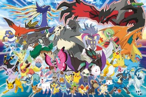 Ensky Pokemon XY Kalos Region Pokemon Jigsaw Puzzle 500-Piece Large