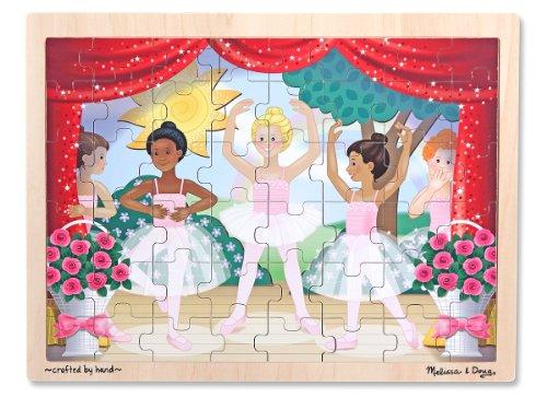 Melissa Doug Ballet Recital Wooden Jigsaw Puzzle With Storage Tray 48 pcs
