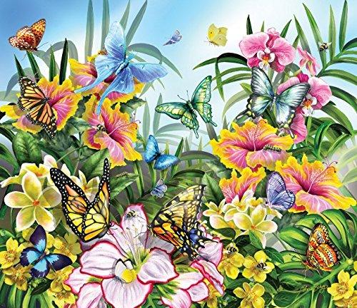Butterflies in the Garden a 200-Piece Jigsaw Puzzle by Sunsout Inc