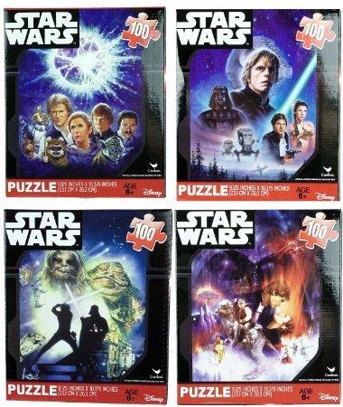 Star Wars Classic Original 100 Piece Jigsaw Puzzles Set of 4