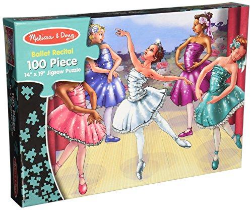 Melissa Dougs 100 Piece Ballet Recital Jigsaw Puzzle