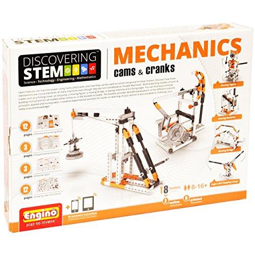 Engino Discovering STEM Mechanics Cams Cranks Construction Kit