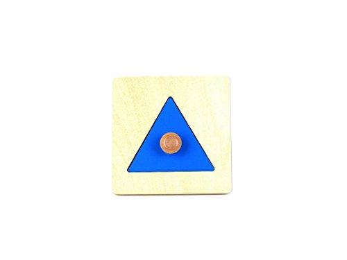 pinkmontessori Montessori Infant Toddler Triangle Puzzle with Big Knob