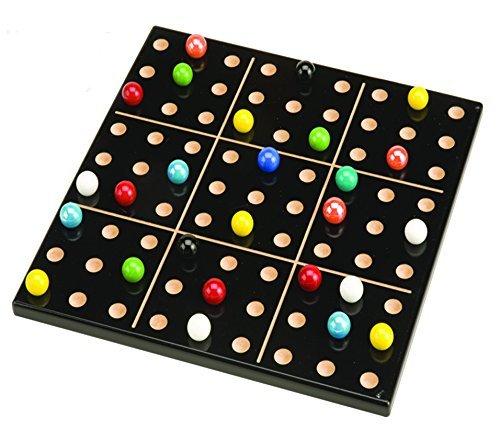 MegaFun USA Color Sudoku Wood Puzzle Game with Mega Marbles by Mega Fun USA
