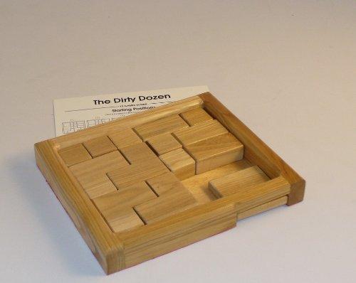 Worldwise Imports Dirty Dozen Wood Puzzle Game