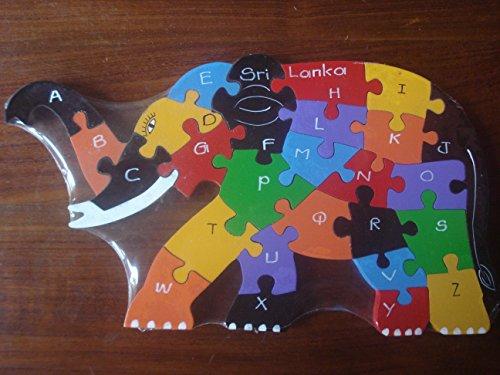 Eco Friendly Elephant Wooden Alphabet Puzzle