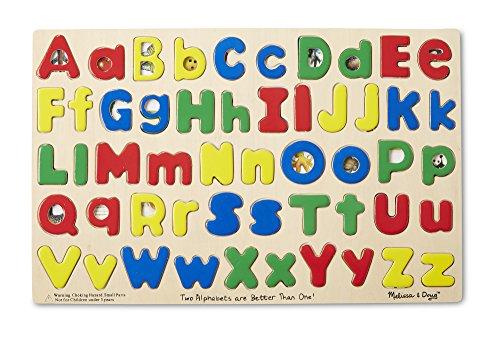 Melissa Doug Upper Lower Case Alphabet Letters Wooden Puzzle 52 pcs