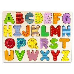 Professor Poplars Wooden Alphabet Puzzle Board Toys Christmas Gift