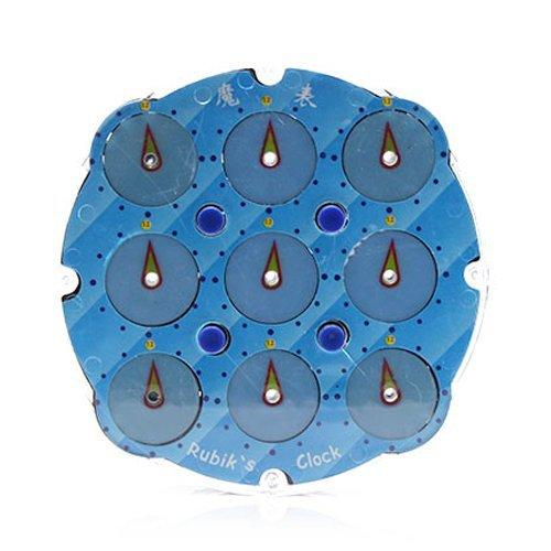 LingAo Magic Clock Blue Puzzle Cube Twisty Puzzle