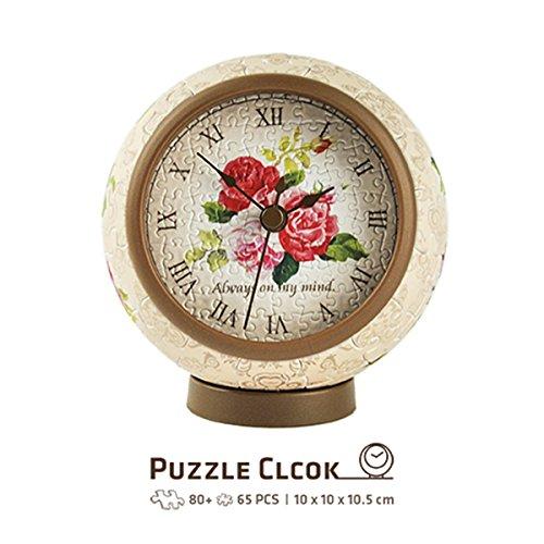 Pintoo - KC1005 - Classic Rose - 145 Piece Plastic Clock Puzzle