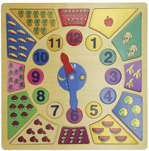 Wood Clock Puzzle