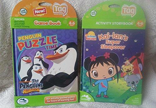 LeapFrog Penguin Puzzle Time Game Book Kai-lans Super Sleepover