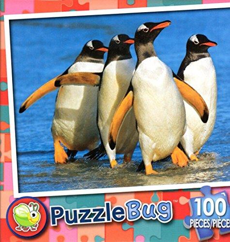 Puzzlebug 100 Piece Puzzle ~ Gentoo Penguins Falkland Islands