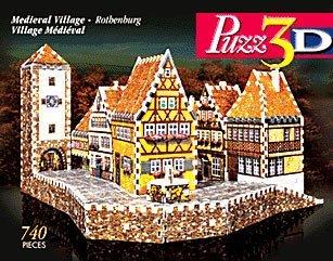 Puzz3D Wrebbit Medieval Village Rothenburg Difficult Puzzle 740 Pieces