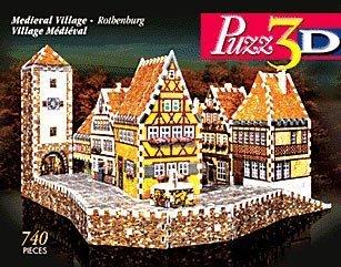 Puzz3D Wrebbit Medieval Village Rothenburg Difficult Puzzle 740 Pieces by Wrebbit