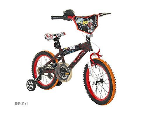Dynacraft Hot Wheels Boys BMX StreetDirt Bike with Hand Brake 16 BlackRedOrange