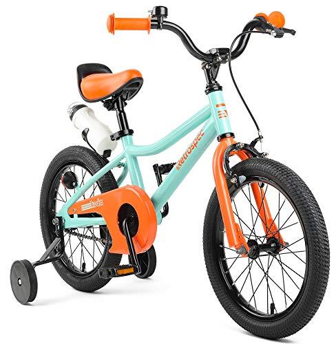 Retrospec Koda Kids Bike with Training Wheels 16 3-7yrs Seafoam Tangerine