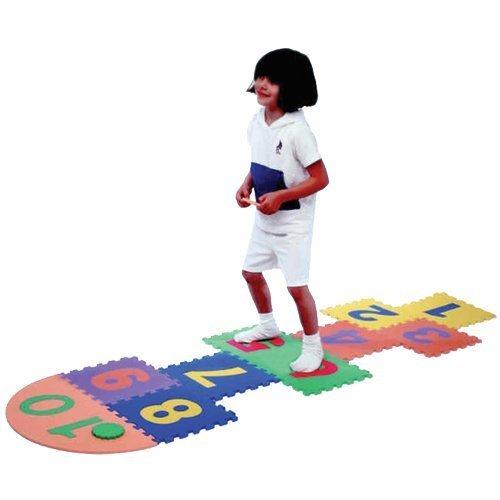 Arabic Numbers Hopscotch Foam Playmat by Noorart Inc