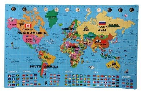 IncStores Large 60 Piece World Map Interlocking Foam Playmat 4 x 65