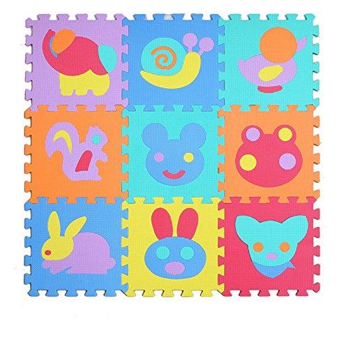 LemonGo Soft Foam Puzzle Playmat Jigsaws Puzzlemats Zoo Animal Jigsaws for Kids Nursery