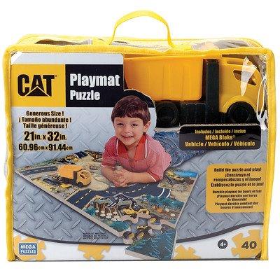 World of CAT Caterpillar Foam Puzzle Playmat with MEGA Bloks Truck