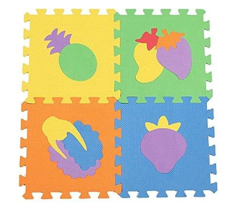 YueLian Kids Fruits Print Puzzle Foam Playmat Puzzle Exercise Mats Floor Play Mats