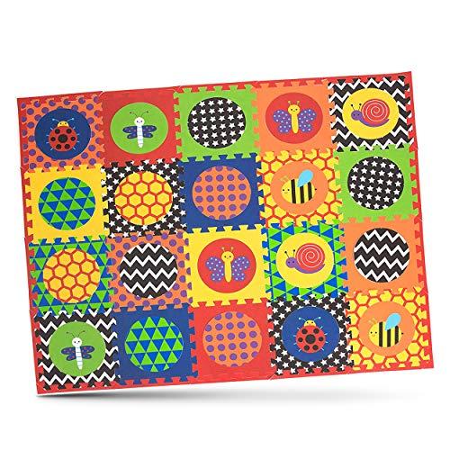 Nuby Interlocking Baby Play Mat Foam Floor Tiles for Infants and Children 52 x 65