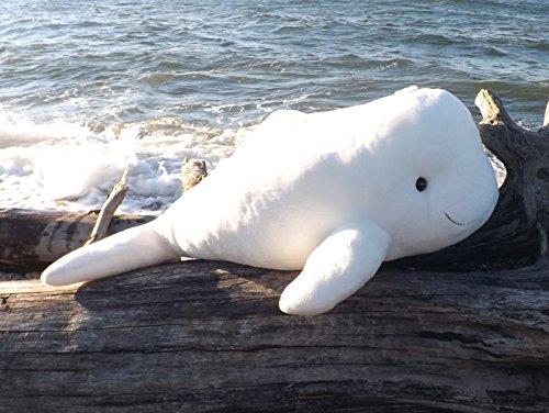 Giant Plush Toy Beluga Whale - 36 Large Stuffed Animal Beluga