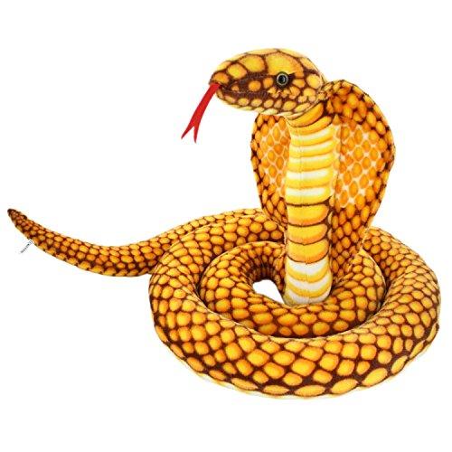 Jesonn Realistic Giant Stuffed Animals Naja Nivea Cape Cobra Plush Toys Snake98 Long1PC