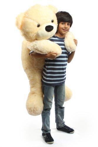 Cozy Cuddles - 47 - Irresistibly Cute Extra Soft Vanilla Cream Big Plush Teddy Bear By Giant Teddy