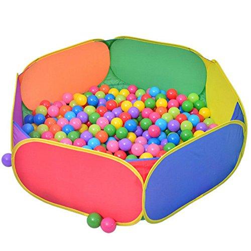 Aole-hw Rainbow Hexagon Children Balls Pit - No Ball