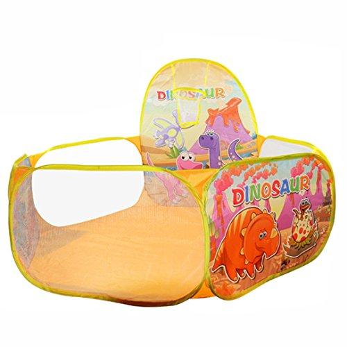 Doinshop Pop Up Hexagon Polka Dot Children Ball Pit Play Pool Tent Carry Tote Toy Medium Orange