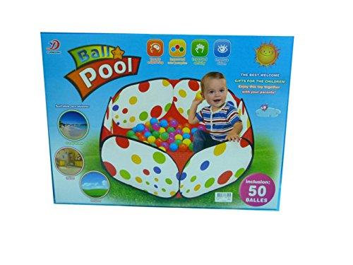 Lanlan Kids Ball Pit PlaypenBaby Play Pool ToysIndoor Outdoor Children Ball Pit Tent Pool Baby Ball Pool with 50 Balls