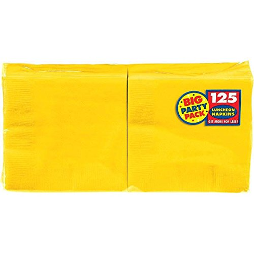 Big Party Pack Luncheon Napkins 13x13 125Pkg Sunshine Yellow