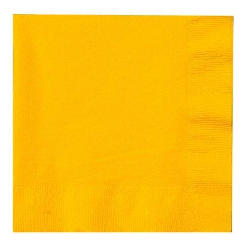 Luncheon Napkins 65X65 50Pkg-School Bus Yellow