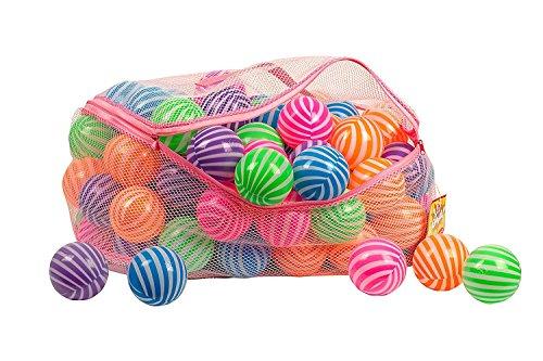 Saganizer BPA Free Stripe Shape Zipper Toysag Ball Pit 200-Pack