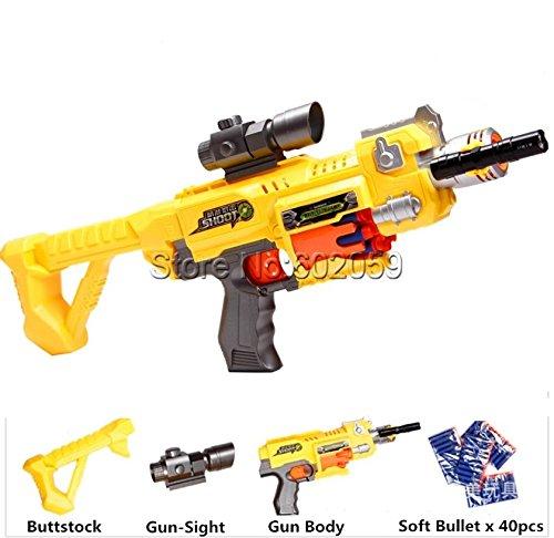 M4 Electric Burst Soft Bullet Gun Nerf Assault Fifle Dart Blaster Childrens Toy Gun Best Gift
