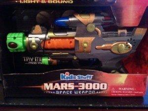 MARS 3000 KIDS STUFF NEW NIB SPACE WEAPON TOY GUN LIGHT SOUND VIBRATION KIDS 4