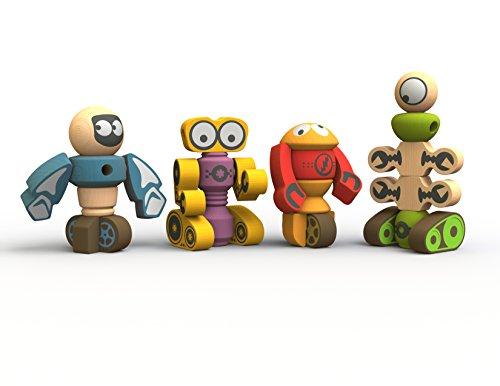 BeginAgain Tinker Totter Robots Build Your Own Robot Kit Robot Building Game