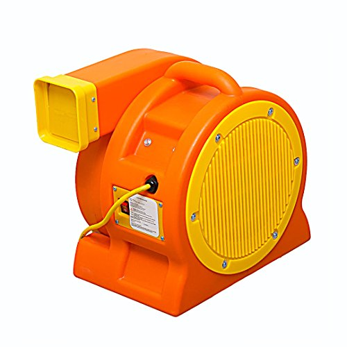 Soleaire 1-HP 1180-CFM 85-Amp Inflatable Bounce House Moonwalk Blower Orange