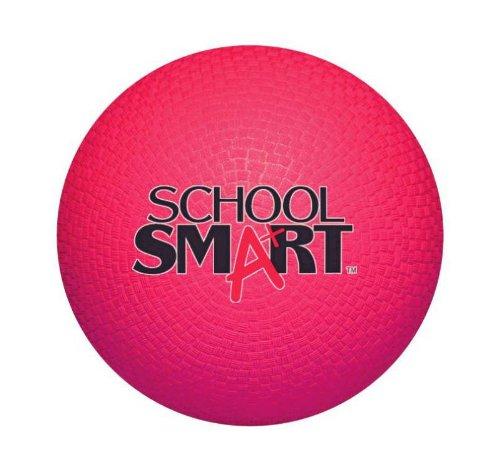 School Smart 1293603 Rubber Playground Ball 5 Red